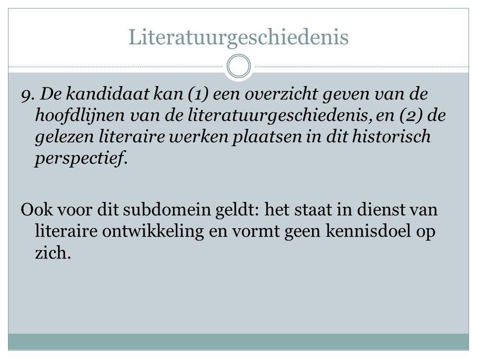 Literatuurgeschiedenis 9.