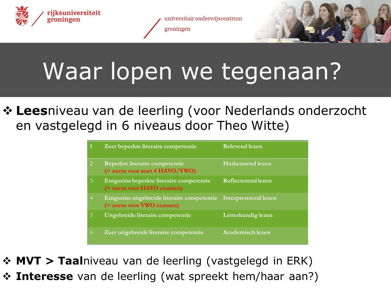 24 januari 2012 universitair onderwijscentrum groningen lees- en taalniveau