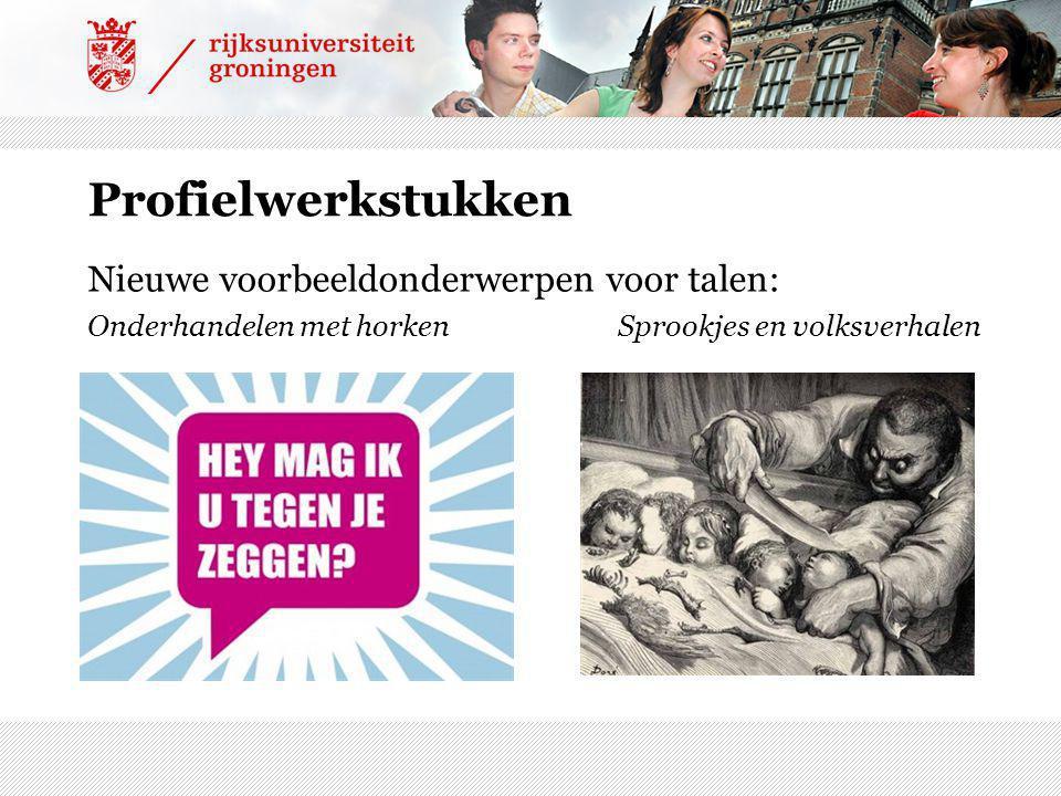 Profielwerkstukken Nieuwe voorbeeldonderwerpen voor talen: Onderhandelen met horken Sprookjes en volksverhalen