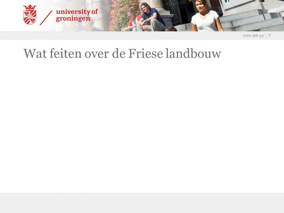 mm-dd-yy | 7 Wat feiten over de Friese landbouw