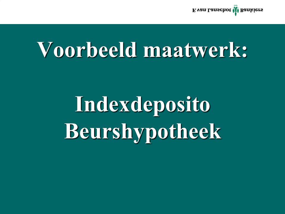 Voorbeeld maatwerk: Indexdeposito Beurshypotheek