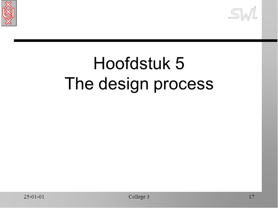 25-01-01College 317 Hoofdstuk 5 The design process