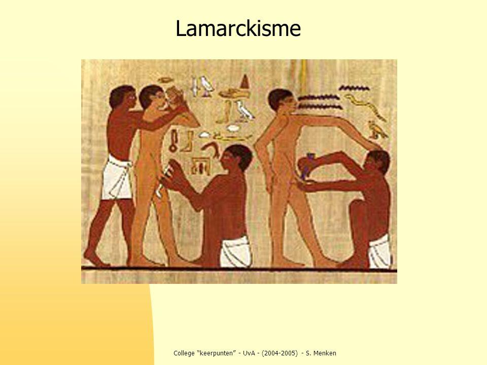 """College """"keerpunten"""" - UvA - (2004-2005) - S. Menken Lamarckisme"""