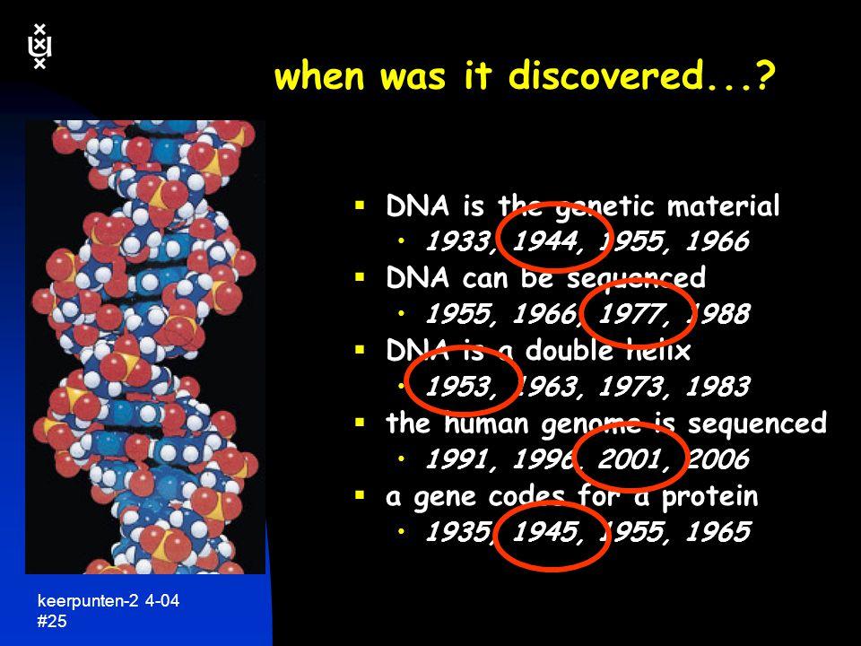 keerpunten-2 4-04 #26 ons genetisch materiaal