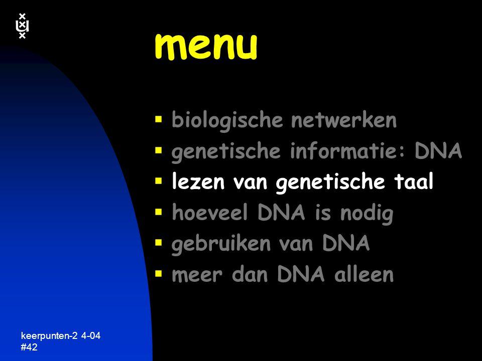 keerpunten-2 4-04 #43 genetische informatie een taal met maar 4 letters keerpunten in de biologie