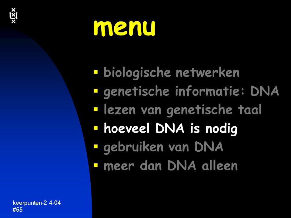 keerpunten-2 4-04 #56 hoeveel genetische informatie is nodig...? keerpunten in de biologie