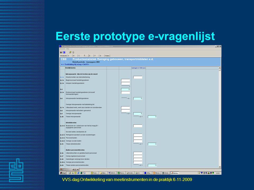 Eerste prototype e-vragenlijst