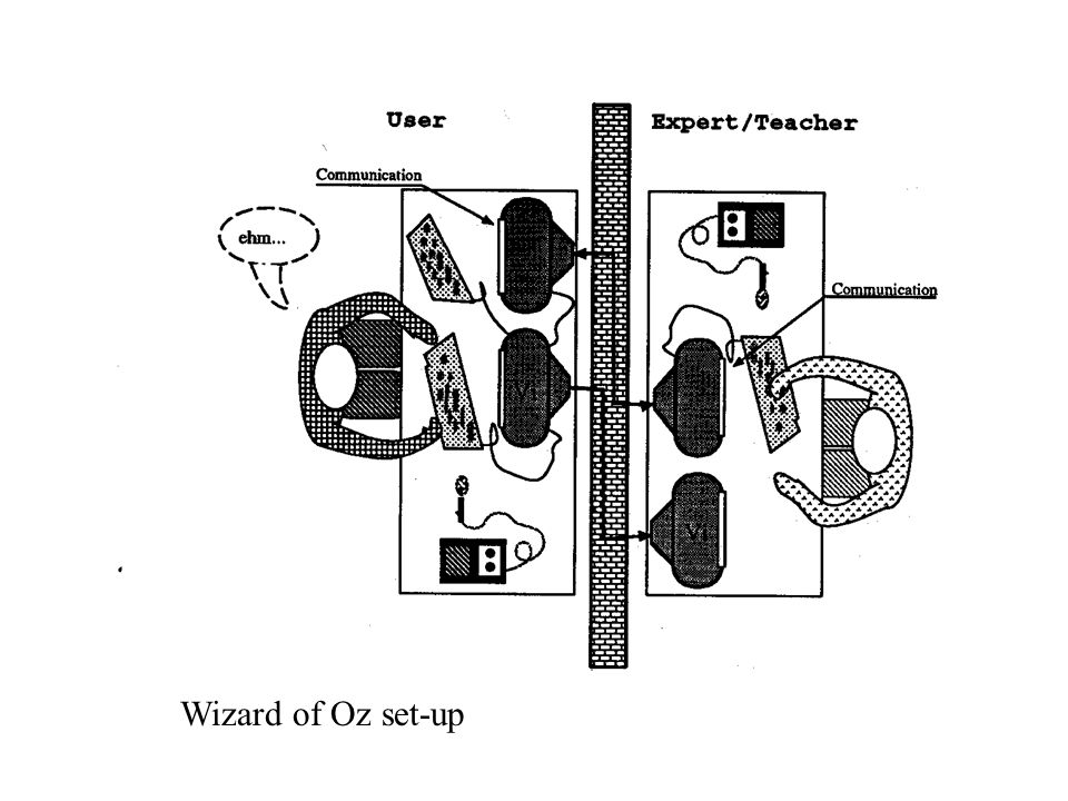 Wizard of Oz set-up