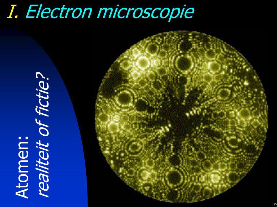 35 I. Electron microscopie Atomen: realiteit of fictie?