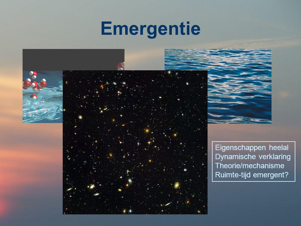 Kosmologie Oorsprong, evolutie en toekomstig lot van ons heelal als geheel Einstein's algemene relativiteitstheorie: ruimte-tijd heeft een eigen dynamiek, de tijd een begin, het heelal een eigen geschiedenis