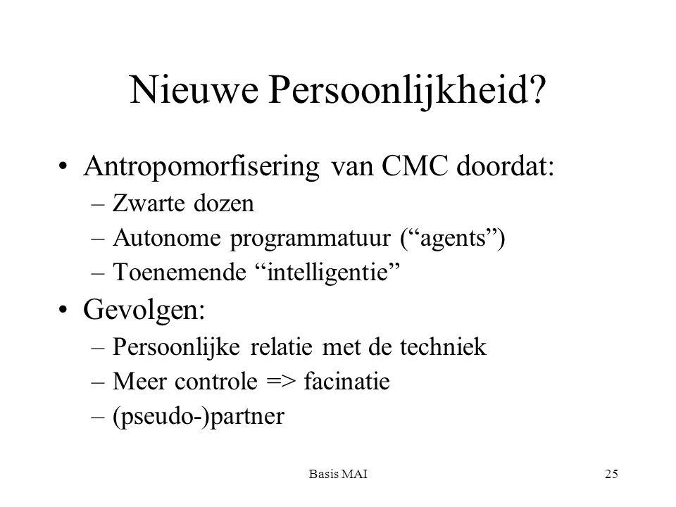 Basis MAI25 Nieuwe Persoonlijkheid.