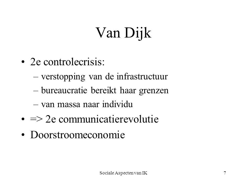 Sociale Aspecten van IK8 Decentralisatie Vanaf de dertiger jaren neemt de bedrijfsomvang af.