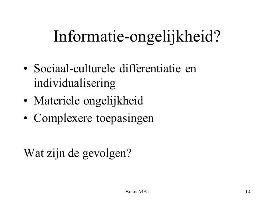 Basis MAI14 Informatie-ongelijkheid.