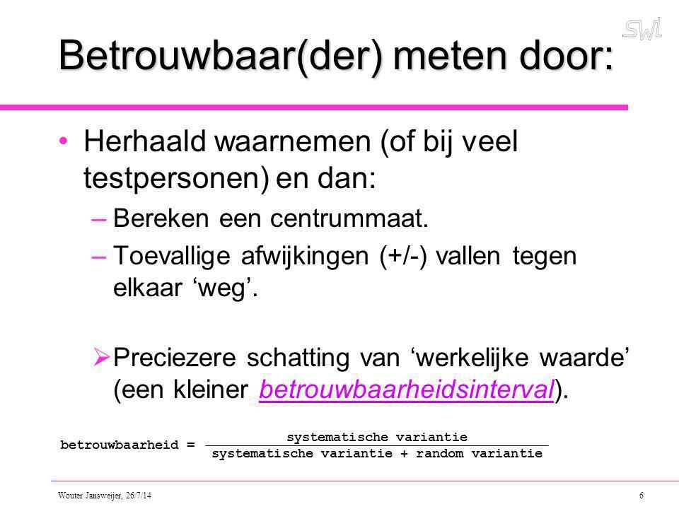 Wouter Jansweijer, 26/7/14 17 Let op.