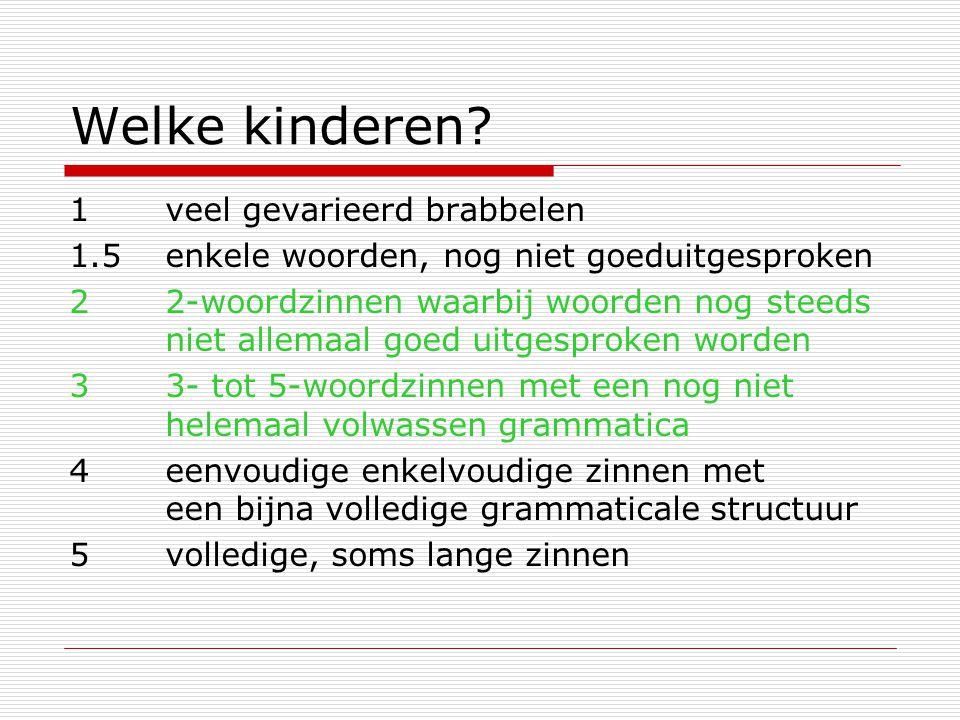 En:  Nederlandse RIs allerlei verschillende onderwerpen hebben (een RI is door de combinatie van specifieke plaatsing en morfologie altijd te onderscheiden van een finiete zin): (1) Ik zit op de vloerFiniet (2) Ik op de vloer zittenRI (3) Jij zit op de vloerFiniet (4)Jij op de vloer zittenRI