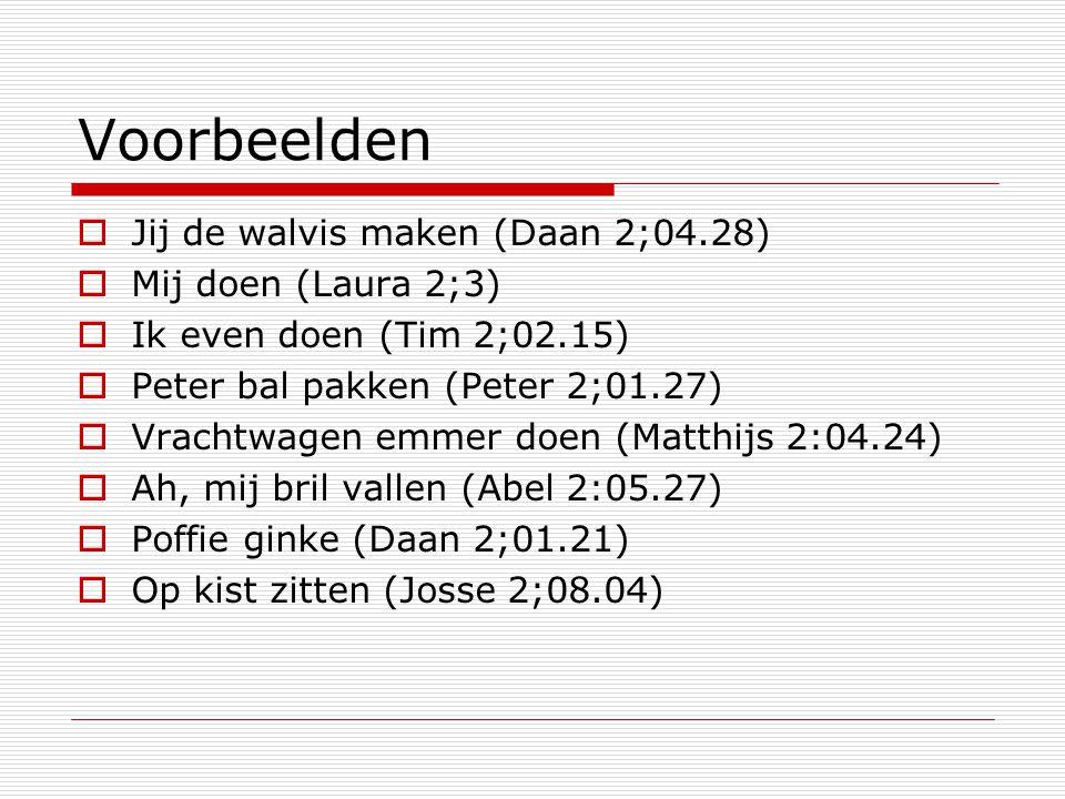 Resultaat All subjectsOnly 3 rd person %-modal Abel76 (120)44 (16) Daan73 (157)48 (27) Josse73 (206)69 (26) Laura64 (314)34 (82) Matthijs78 (154)45 (76) Peter80 (197)72 (93) Average74 (1248)52 (320)