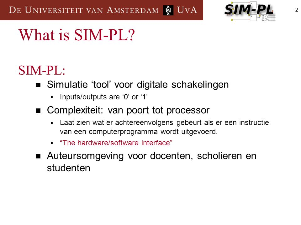 2 What is SIM-PL.