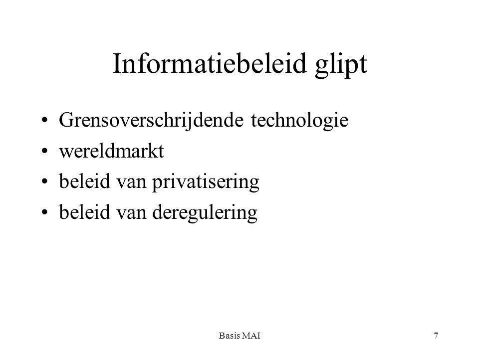 Basis MAI7 Informatiebeleid glipt Grensoverschrijdende technologie wereldmarkt beleid van privatisering beleid van deregulering