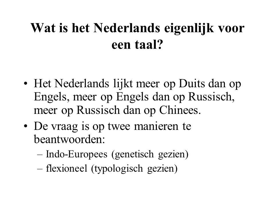 Wat is het Nederlands eigenlijk voor een taal? Het Nederlands lijkt meer op Duits dan op Engels, meer op Engels dan op Russisch, meer op Russisch dan