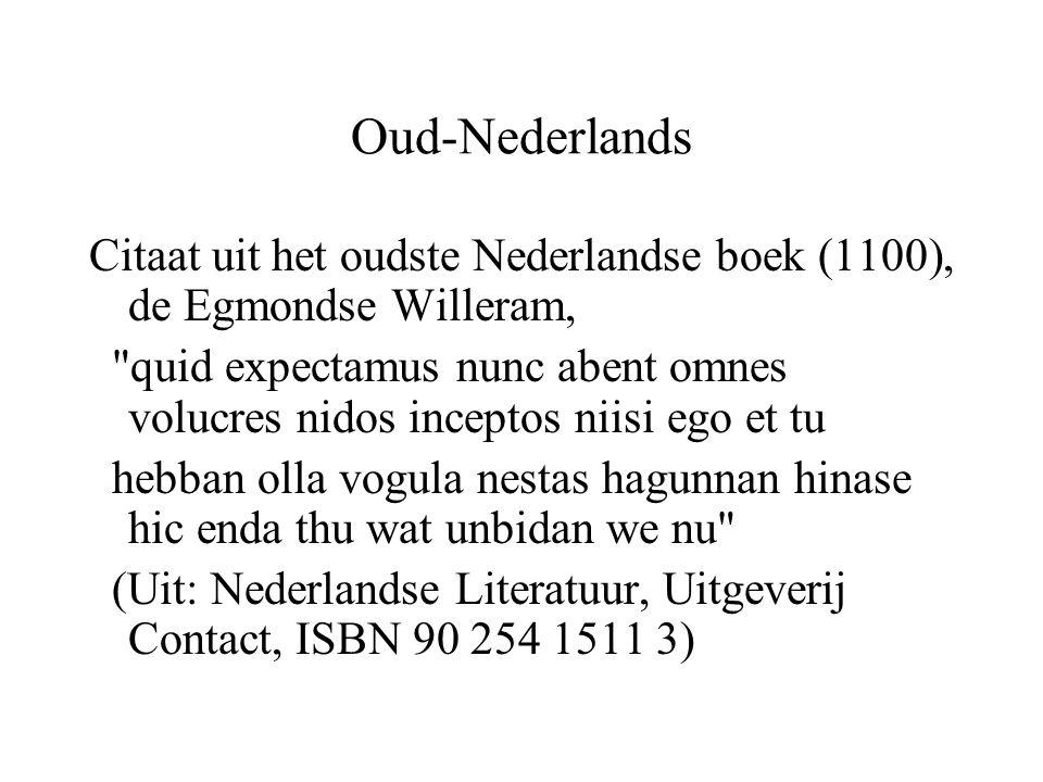 Oud-Nederlands Citaat uit het oudste Nederlandse boek (1100), de Egmondse Willeram,