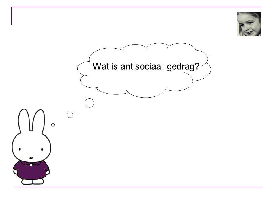 Wat is antisociaal gedrag?