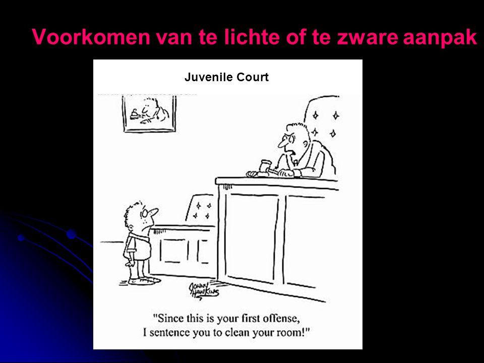 Voorkomen van te lichte of te zware aanpak Juvenile Court