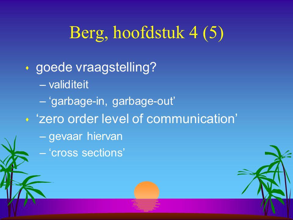 Berg, hoofdstuk 4 (5) s goede vraagstelling.