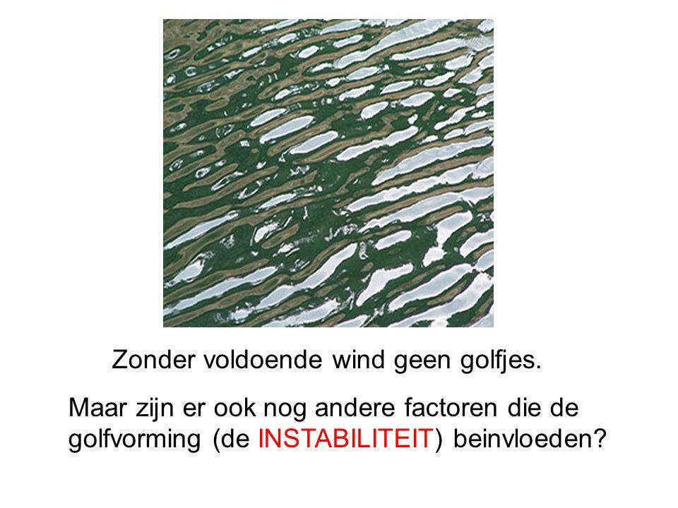 Zonder voldoende wind geen golfjes. Maar zijn er ook nog andere factoren die de golfvorming (de INSTABILITEIT) beinvloeden?