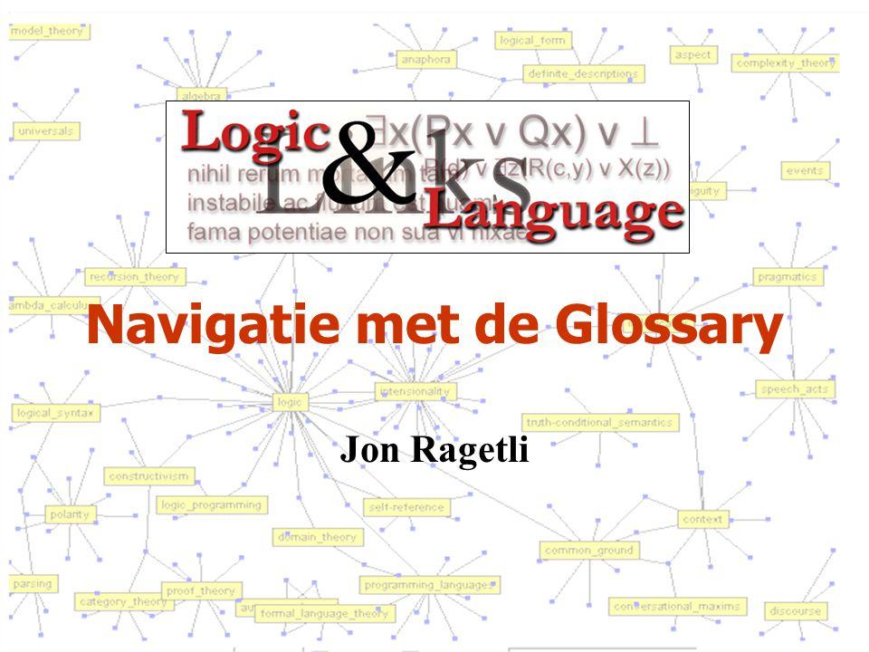 Navigatie met de Glossary Jon Ragetli