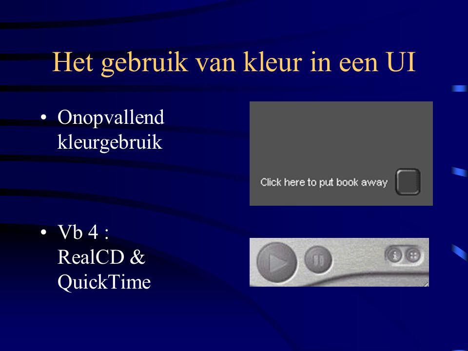 Het gebruik van kleur in een UI Onopvallend kleurgebruik Vb 4 : RealCD & QuickTime