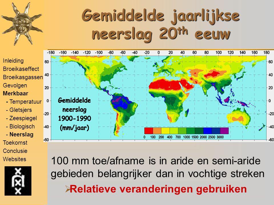 Inleiding Broeikaseffect Broeikasgassen Gevolgen Merkbaar - Temperatuur - Gletsjers - Zeespiegel - Biologisch - Neerslag Toekomst Conclusie Websites G