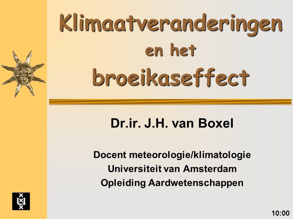 Klimaatveranderingen en het broeikaseffect Dr.ir.J.H.