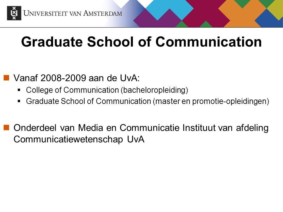 Meer informatie Binnen CW: www.student.uva.nl/mcw Binnen UvA: www.studeren.uva.nl/masters/ Binnen NL: www.universitairemasters.nl