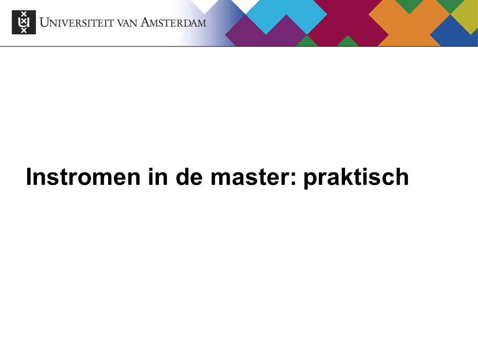 Instromen in de master: praktisch
