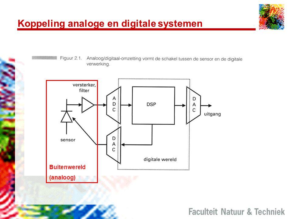 Koppeling analoge en digitale systemen Buitenwereld (analoog)