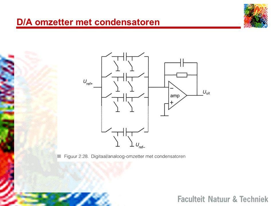 D/A omzetter met condensatoren