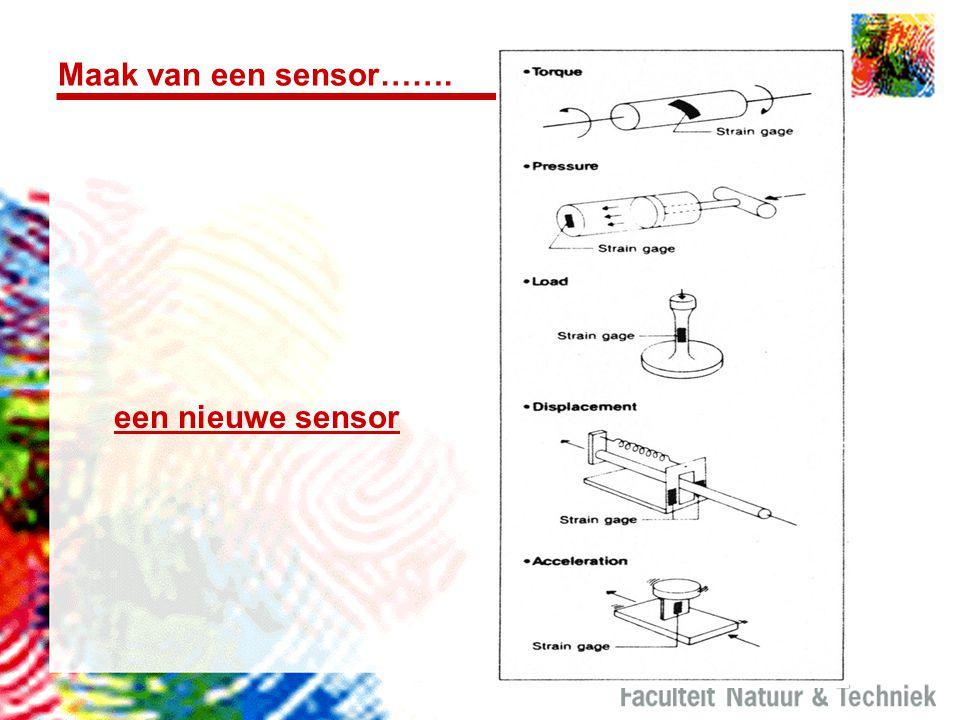 Maak van een sensor……. een nieuwe sensor