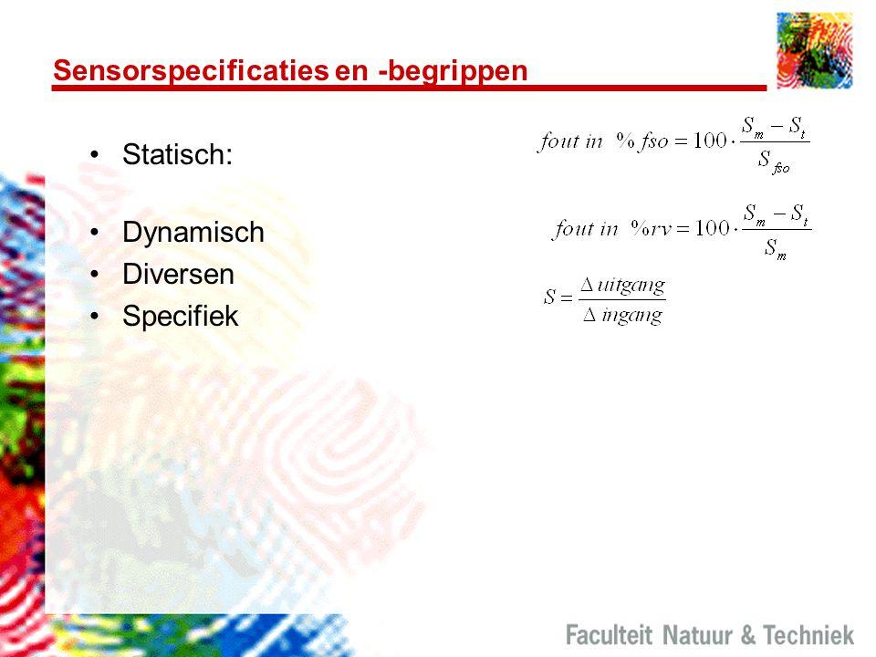 Sensorspecificaties en -begrippen Statisch: Dynamisch Diversen Specifiek