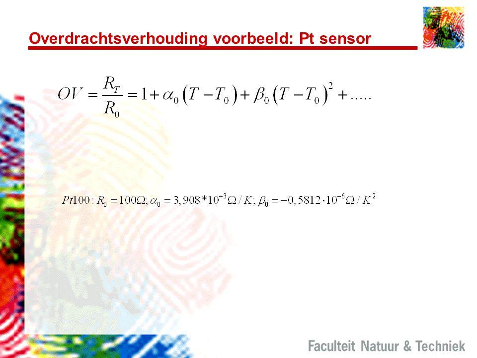 Overdrachtsverhouding voorbeeld: Pt sensor