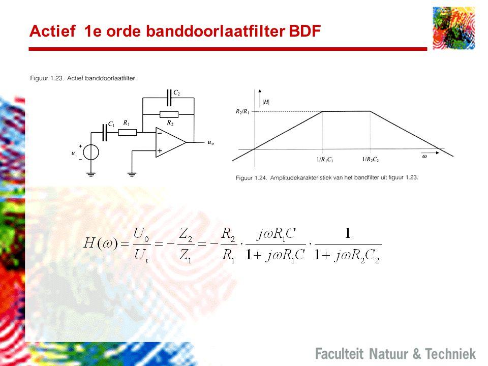 Actief 1e orde banddoorlaatfilter BDF