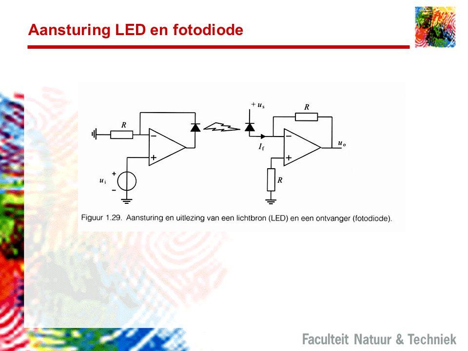 Aansturing LED en fotodiode