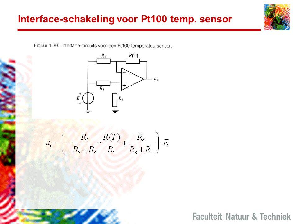 Interface-schakeling voor Pt100 temp. sensor