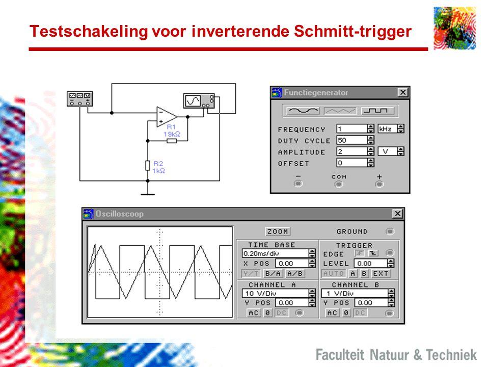 Testschakeling voor inverterende Schmitt-trigger