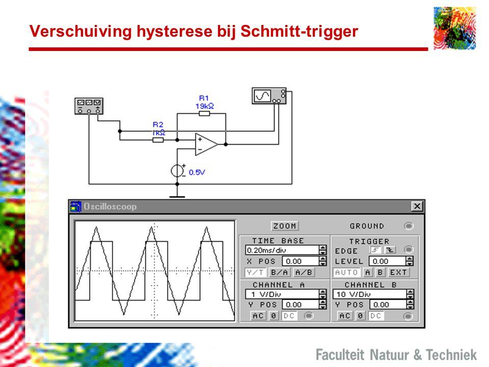Verschuiving hysterese bij Schmitt-trigger