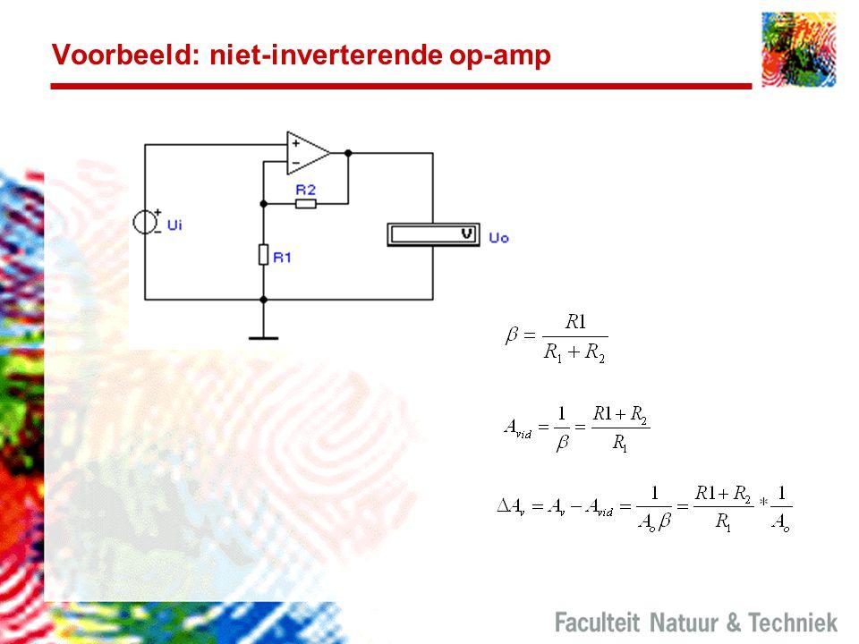 Voorbeeld: niet-inverterende op-amp