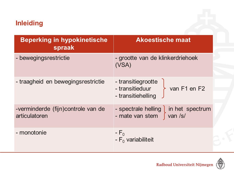 Conclusie Interventie met EST lijkt vooral effect op laryngale en glottale mechanismen te hebben Resultaten bevestigen de grote invloed van prosodie op de verstaanbaarheid van patienten met hypokinetische dysartrie