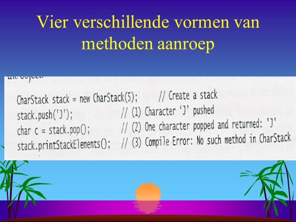 4. Instance members s member: variabele - methode s toestand (state): s toestand (state): elk object heeft een set van eigen instantievariabelen die d