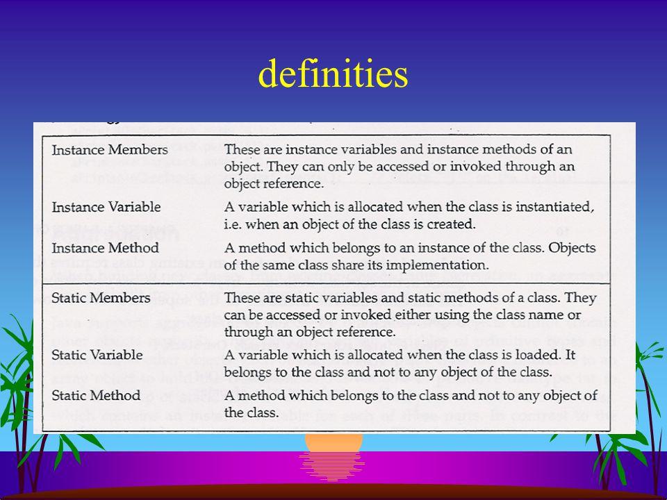 Toegang tot statics s op 2 manieren: –met de klassenaam: CharStack.getInstanceCount(); –met referentie van een object: stapel1.getInstanceCount();