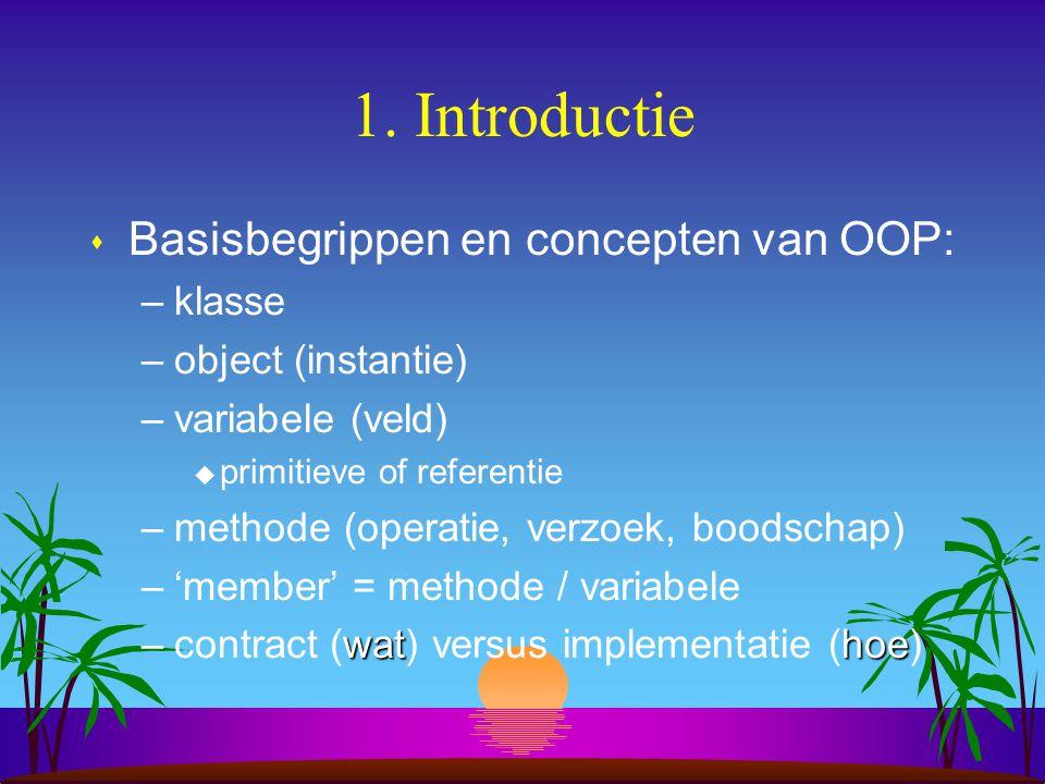10.Voorbeeld van een stand-alone Java programma s Wat zijn de hoofdelementen.