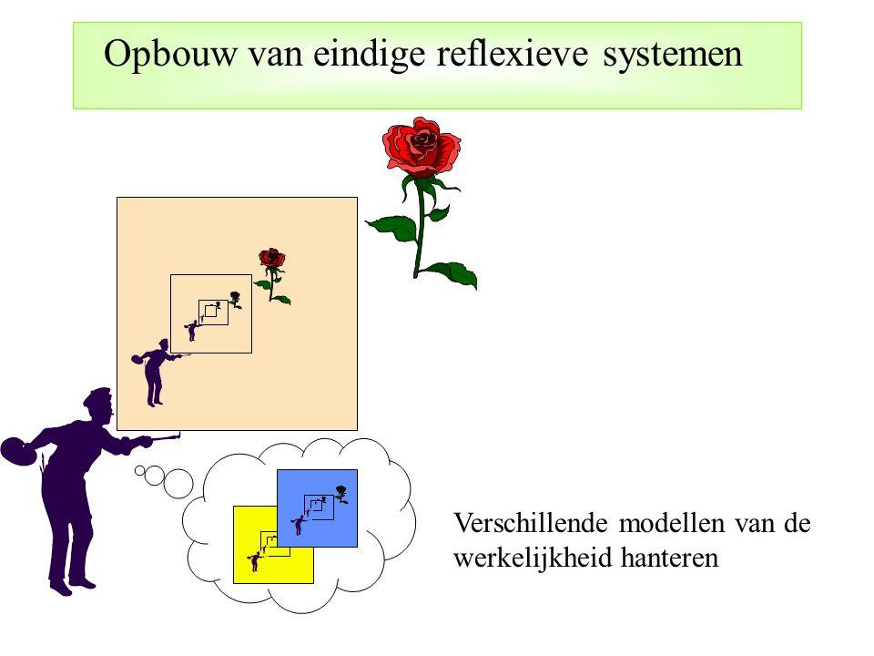 Opbouw van eindige reflexieve systemen Verschillende modellen van de werkelijkheid hanteren